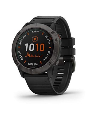 Garmin Smart Watch Fenix 6X Titanium with Black Band