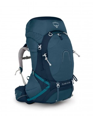 Osprey Aura AG 65 (Womens) with Raincover - (Challenger Blue, M)
