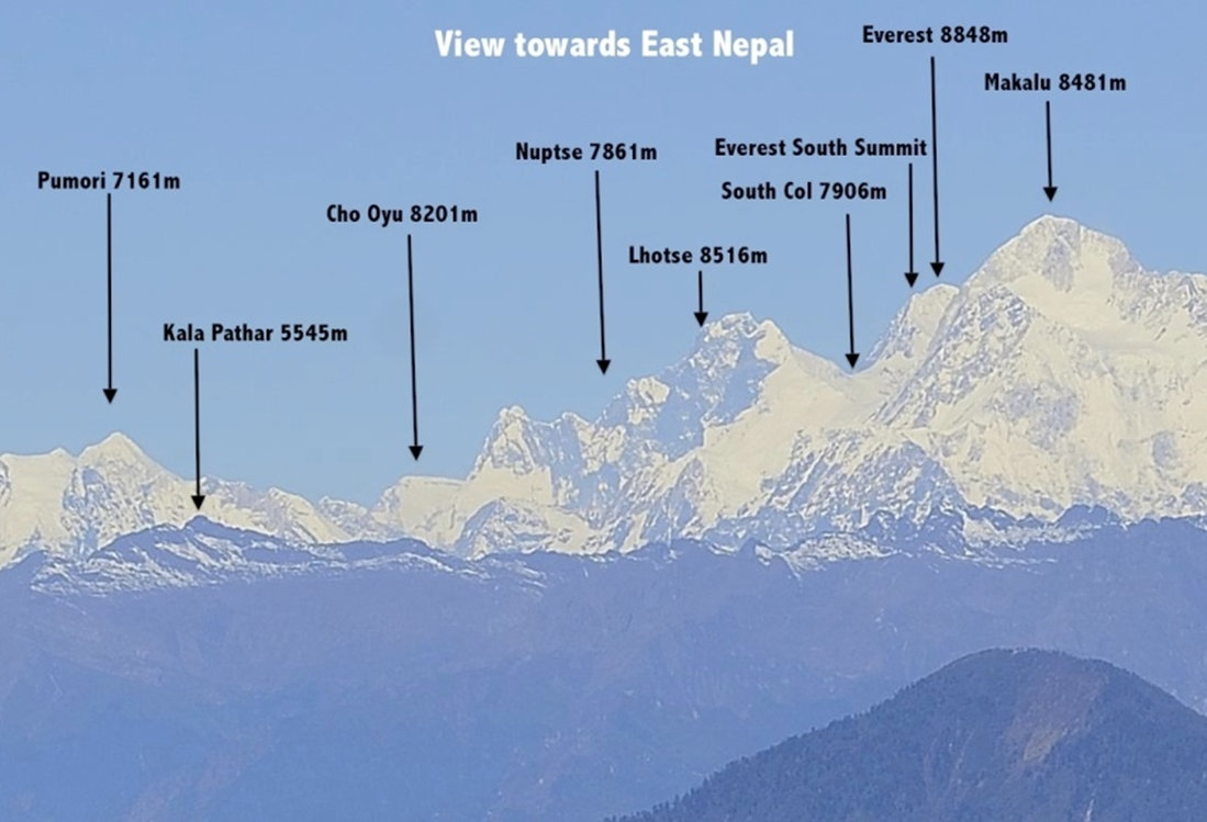 everest east nepal view